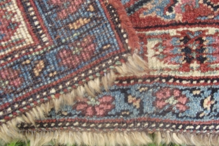 Unusual Nice old Kurdish Bidjar bagface or mat. 2.4 x 2.11