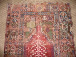 Mudjer prayer rug circa 1780 , beautiful Ottoman rug with superb colour.