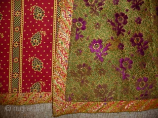 A superb 18th/19th cent. Indo/Persian silk coat. A beautiful and complex weave difficult to photograph, mother of pearl buttons and a stunning printed cotton lining in pristine condition. Although the silk is  ...