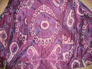 IKAT COAT 19TH CENT. DRAMATIC AND BEAUTIFUL , EXCELLENT CONDITION, FROM AN ENGLISH PRIVATE COLLECTION