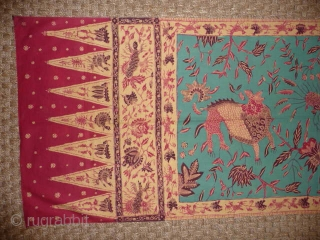 Batik sash from Java early 2oth cent. superb colour and condition, 5ft x 1ft 8ins.SOLD