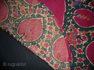 The centre of a beautiful antique suzani,excellent condition , 3ft diam.