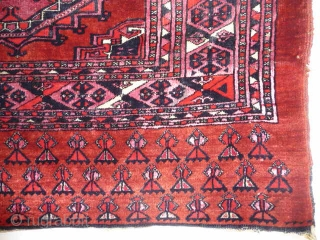 Saryk Juval, lovely mid-period Saryk with silk and cotton, fabulous ground colour and good conditionSOLD