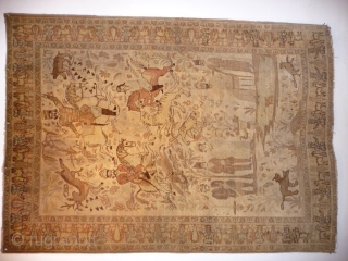 Tabriz;  Fabulously faded, very decorative Tabriz rug , good condition, 6ft 2in x 4ft 4ins.