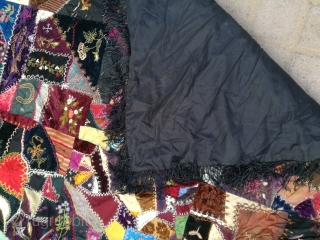 Antique crazy quilt.
