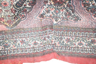 Antique 19th Century Kalamkari, Condition..(one repair)..otherwise Perfect, see in image Size 122X185Cm...(IMG_00026081)