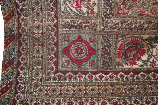 Antique 1850th Century Indian Kalamkari, Beautiful piece, Birds and flowers, Condition..few holes otherwise excellent, see in image, Size 185x116 Cm..Approx.(IMG_00026084)