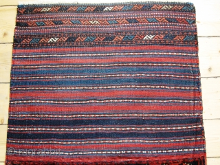 A 19/20th Century Jaff Kurd Khorjin with Brocaded Striped Kilim Back 