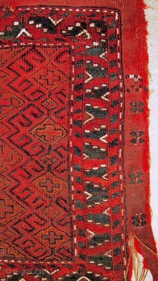 A Turkman brocaded Torba,possibly Yomut, probably late 19th century.