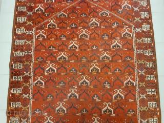 "Nice Turkoman rug with nice design! Size 185 x 130 cm / 6'2"" x 4'4""."