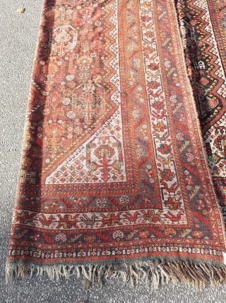 "Gorgeous late 19th century Khamseh with great details. 300 x 220 cm / 10' x 7'4""."