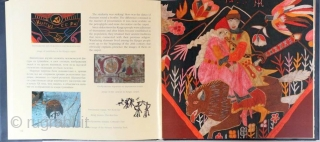 Kadyrov, V. Mysteries of Kyrgyz Decor Art. Bishkek, Rarity Printing, 2017, 1st ed., oblong 8vo (25 x 23cm), 111 pp., numerous colour illus., boards, dust-wrapper. Parallel text in English and Russian.