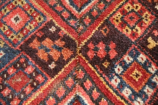 """Uzbek Julkhirs, Central Asia, Nurata plateau area, late 19th century. L: 340 cm; W: 142 cm; the dyes are natural, the use of """"chayan"""" (a scorpion) patterns in yellow, red and cherry-red colours  ..."""