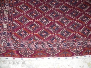 turkamen rug   antique size 245x160  circa 1900 -1920