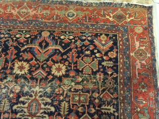 Beutiful Antique Heriz rug late 19th century size 360x260