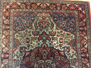 beautiful persian bakhtiari rug good condition only need wash- 1920's   size 209x139