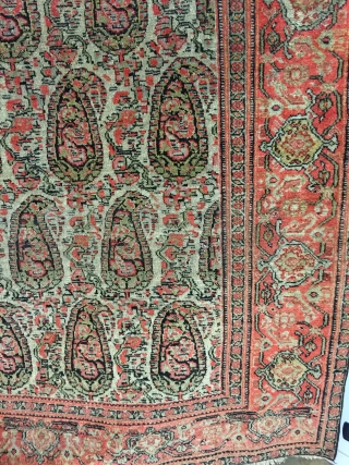 wonderful'Antique finest  Senneh persian botteh . Excellent condition.  size 200x135 cm