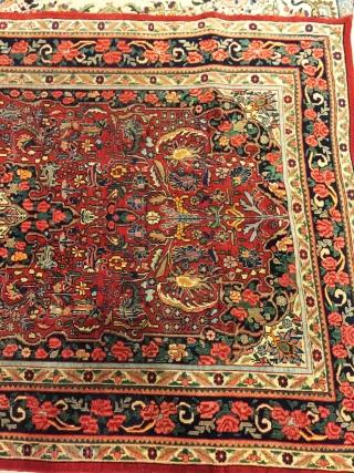 Beautiful bijar gol farang antique size 270x160