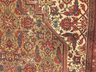 Antique sarab circa 1870. very fine khonts and good pile very floppy Size: 490x345 cm soft good condition ,need some small restoration