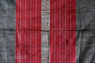 Tubular skirt, ceremonial male sarong, cotton and metal thread, Minangkabau/Sumatra/Indonesia, ca.1950. This is the third of three  cloths from Sumatra  which I am offering in this series. They are all featuring  ...