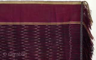 Ikat shoulder cloth, ulos, Batak, Sumatra, Indonesia, ca. 1950