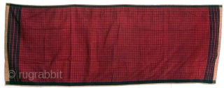 Shoulder or hip cloth, cotton, Benkulu, Sumatra, Indonesia, ca. 1950