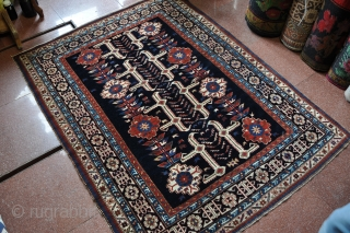 Antique Caucasian Kuba Rug with Afshan design, Early 20th century, size 123x160cm, wool on wool. Good condition.