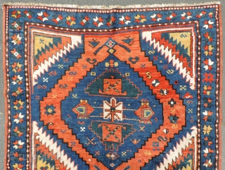 Lot 535 in my auction 25. January 2020. www.homm.me Kazak carpet. Caucasus. Antique, around 1870. 215 cm x 135 cm. Oriental rug. Hand knotted. Wool on wool. Probably natural colors. Karabagh region.