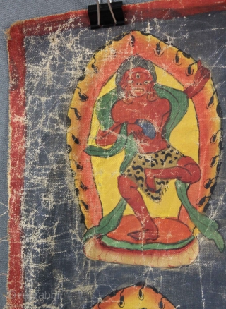 Lot 53. I realy like the Tiger in this one :-) Caturbhuja - Mahakala ? Thangka, China / Tibet alt. 74,5 cm x 70 cm. Gemälde. Old painting. In my auction November 10. www.homm.me Enjoy  ...