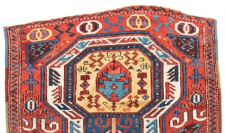 Lot 204, East Anatolian Kurdish Rug, 8 ft. 8 in. x 4 ft. 1 in., Turkey, mid 19th century, Condition: good, brown corroded, pile partly low, ends, slightly incomplete, some small repairs  ...