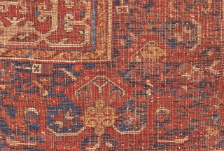 Lot 40, Lotto, 5 ft. x 4 ft., Turkey, 17th century, Condition: good according to age, low pile, upper, end partly restored, some small repairs and reweavings, 
