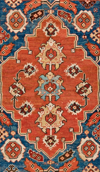 Lot 41, Transylvanian Rug with Cartouche Border, 5 ft. 7 in. x 4 ft. 2 in., 