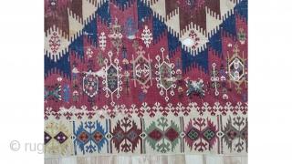 """South-east Anatolian Adana Kilim Size:310x156cm / 10'10""""x5'1"""""""