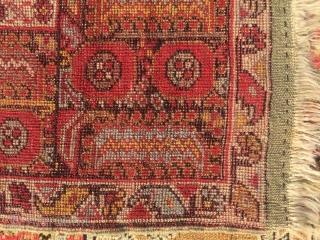 "Anatolian rug . 6'1"" x 3'9""."
