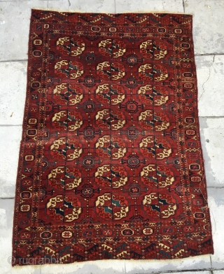 "Tekke wedding rug ? Older one of the type. Soft handle. 5'2"" x 3'7"""