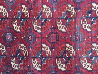 "Tekke wedding rug ? Older one of the type. Soft handle. 5'2"" x 3'7"""