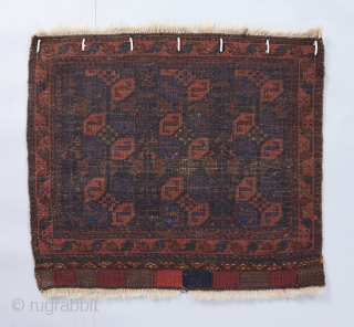 "Baluch bag face with good color and quality. 2'3"" x 2' 