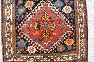 Qashqai. All original. 2'x 2'. Beautiful wool and colors.