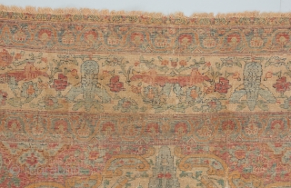 """A great, early, all silk Kerman. 6'2"""" x 4'2"""".   Please visit our website for more great woven art: www.bbolour.com"""