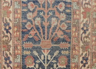 An early Northwest shrub runner that has been reduced in length. Ca. 1800. Great color and drawing. 