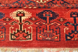 "Turkmen Chuval. Very Velvety. Fully Floppy. 4'9"" x 2'8""."