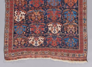 """Afshar rug with great color and a superb rendition of a classic design. Supple handle and fine weave. A small amount of old repair. 5'8"""" x 3'8"""".   Please visit our website for  ..."""