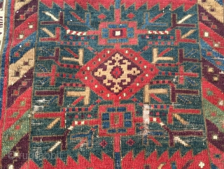 "Early northwest/Kurdish fragment . 3'11"" x 3'3""."