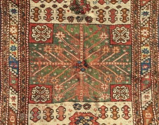"Anatolian rug . 3' x 3'6"". Some repiling in the green area."