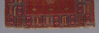 """Kirshehir rug. Earlier than most. A rare, classically derived double niche design for this type, with a Ghiordes type border. Beautiful color harmony. Good condition. 5'7""""x 4'1"""".  Please visit our website for many  ..."""