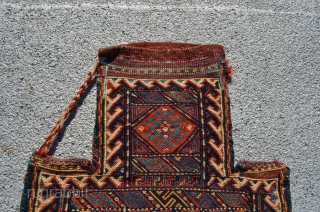 "Kurdish salt bag. 1'7"" x 1'3""."