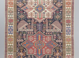 "Akstafa runner with great colors. 9'10"" x 3'9""."
