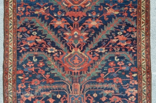 """Rug with roosters. 4'8"""" x 3'10""""."""