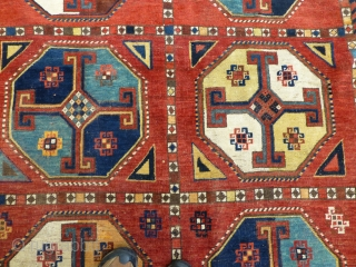 Large Antique Uzbek Main Rug. Here is a superb Uzbek carpet in very good condition, complete, with good pile throughout. Dimensions: 133 x 64 inches
