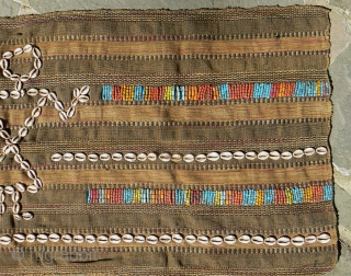 Old Naga Bodywrap Skirt. From Nagaland, in the extreme NE of India.  48 x 21 inches. The  textile is handloomed heavy cotton material with stripes and supplemental weft designs.   ...
